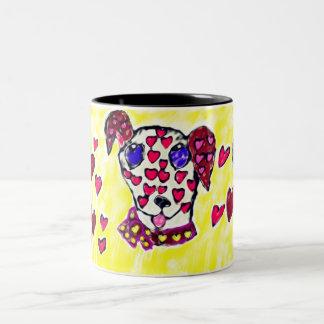 Tasse 2 Couleurs Valentine dalmatien 2