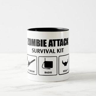 Tasse 2 Couleurs Zombie Attack Survival Kit