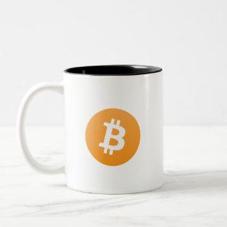 Tasse à deux tons de Bitcoin