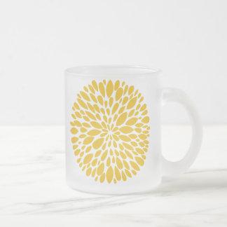 Tasse abstraite moderne fraîche en verre de