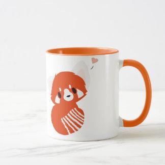 Tasse adorable de panda rouge