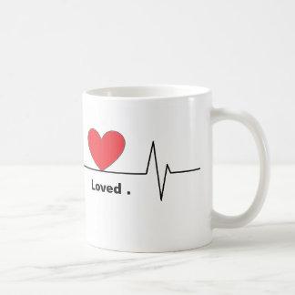 Tasse aimée par battement de coeur