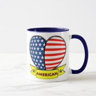 Tasse américaine de coeur