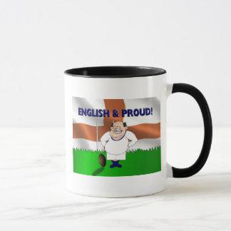 Tasse anglaise et fière de rugby