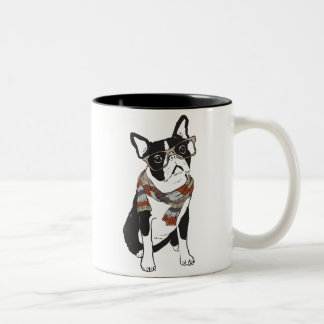 Tasse animale de chien de Boston Terrier de hippie