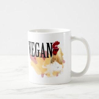 Tasse animale végétalienne de café et de larme
