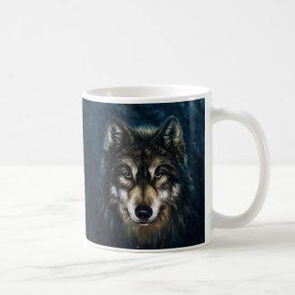 Tasse artistique de visage de loup