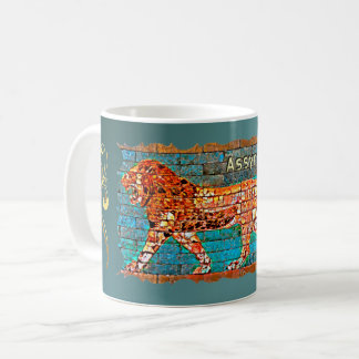 Tasse assyrienne antique de lion