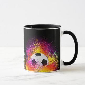 Tasse au néon de ballon de football