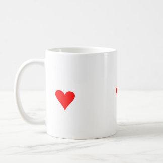 Tasse avec amour rouge de cadeau de Saint-Valentin