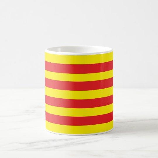 "Tasse avec drapeau Catalan ""Senyera"""