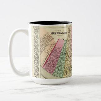 Tasse avec la carte 1956 de coton de la