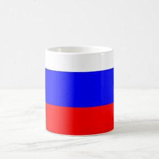Tasse avec le drapeau de la Russie