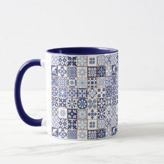 Tasse avec le motif portugais de tuiles - Azulejos