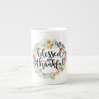 Tasse bénie et reconnaissante