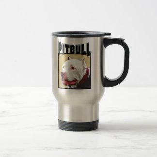 Tasse blanche de voyage de Pitbull