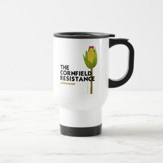 Tasse blanche de voyage - la résistance de champ