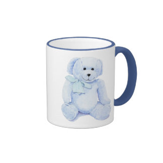 Tasse bleue d ours de nounours