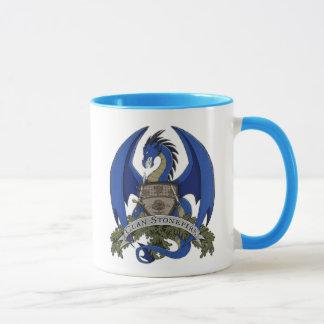 Tasse bleue de crête de dragon de Stonefire