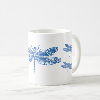 Tasse bleue de libellule