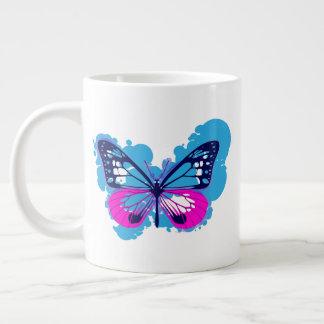 Tasse bleue de papillon d'art de bruit