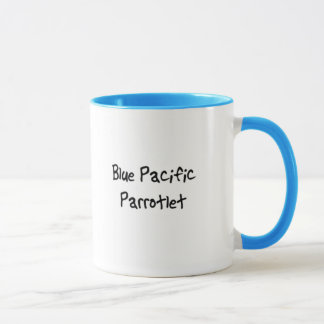 Tasse bleue de Parrotlet