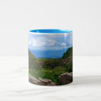 Tasse bleue de ressort de Ridge
