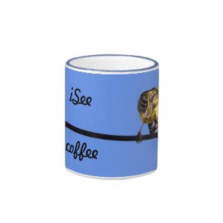 Tasse bleue de sonnerie de birdie mignonne