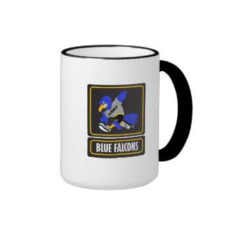 Tasse bleue de sonnerie de Falcons
