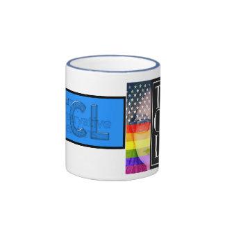 Tasse bleue de sonnerie de TCL