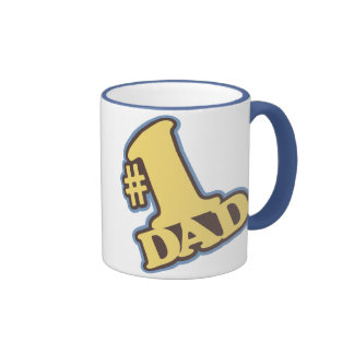 Tasse bleue de sonnerie du papa #1