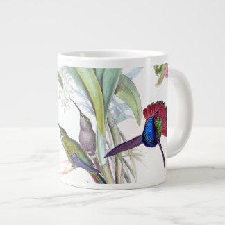Tasse bleue d'éléphant de fleurs d'animaux