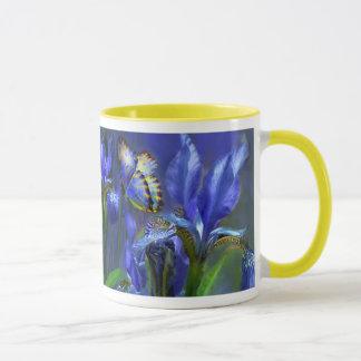 Tasse bleue d'iris de déesse
