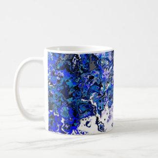 Tasse bleue florale de concepteur de remous