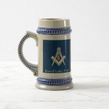 Tasse bleue maçonnique de loge