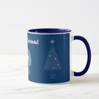 Tasse bleue mignonne et originale d'arbres de