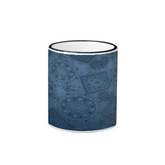Tasse bleue occidentale de sonnerie de d impress