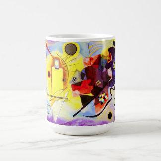 Tasse bleue rouge jaune de Kandinsky