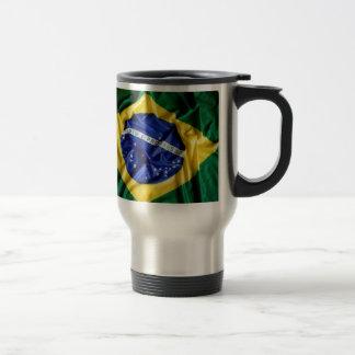 Tasse brésilienne de drapeau