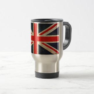 Tasse britannique vintage de voyage de drapeau