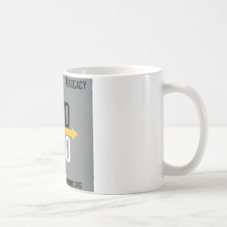 Tasse carrée de logo d'options divergentes