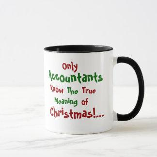 Tasse célèbre de citation de Noël de comptable