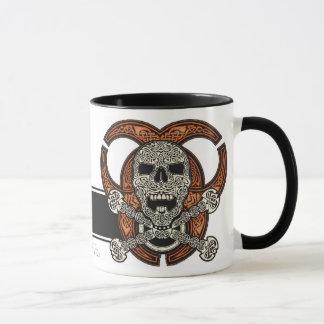 Tasse celtique de crâne et de café de Biohazard