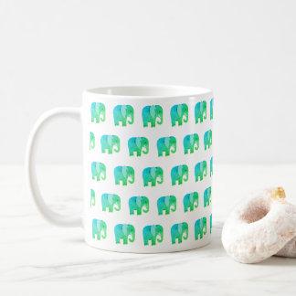 Tasse chanceuse d'impression d'éléphant de jade