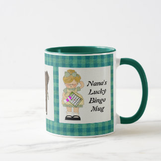 Tasse chanceuse du bingo-test de Nana