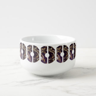 Tasse chinoise de soupe à chats