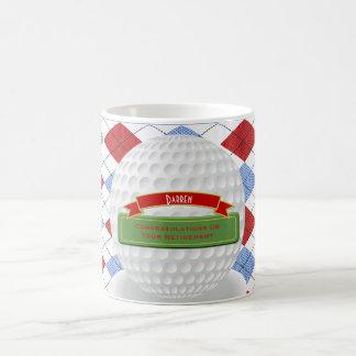 Tasse chique de retraite de golf de golfeur