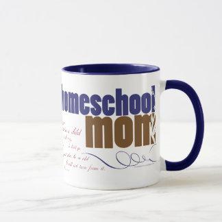 Tasse chrétienne de homeschool - maman de