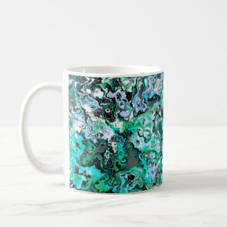 Tasse classique florale de tourbillonnement verte