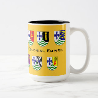 Tasse coloniale d'empire du Portugal